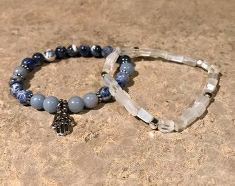 Sodalite x Angelite Healing Energy Bracelet