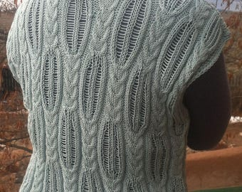 SWEATER  pollunder   sleeveless cotton PATTERNED