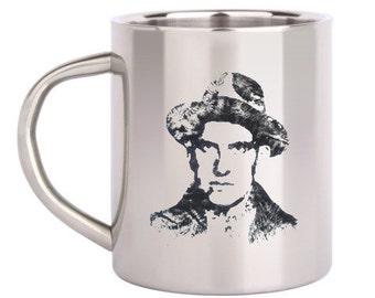 Mayakovsky Vladimir Russian poetry literature metal cup hiking outdoor camping travel mug