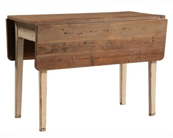 table drop leaf table farmhouse table reclaimed wood handmade kitchen table - Drop Leaf Table Kitchen