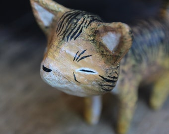 Little Tiger - Papier-maché  Sculpture