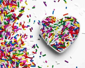 Classic Rainbow Crunchy Jimmies™, crunchy sprinkles, skinny sprinkles, sugar strands, canadian sprinkles, rainbow sprinkles, Fancy Sprinkles