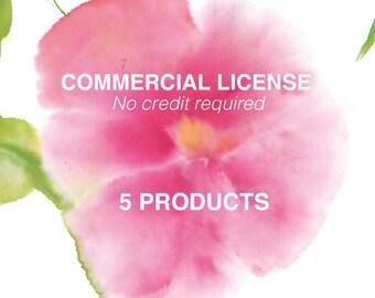 Commerciales sans licence de crédit pour des ensembles d'art aquarelle clip 5