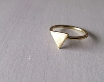 triangle ring , geometric ring, brass ring, dainty ring, ring, gift for her, dainty ring,silver ring,dainty jewelry,