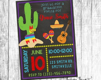 Graduation Fiesta Invitation, Graduation Party Invitation, Customized Party Invitation, Customized Invitation, Fiesta Graduation Party