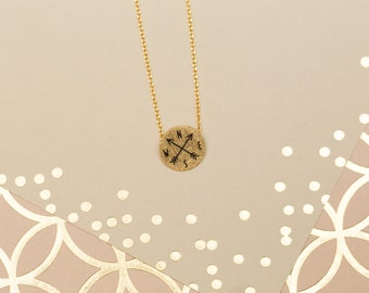 Compass Necklace, Gold