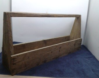 Primitive Wooden Tool Tote