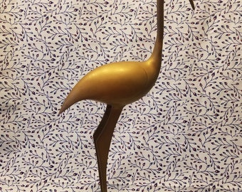 Tall brass crane Herron 12.75 inches