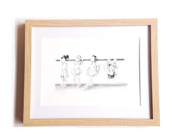 Tiny Dancers • Art Print | Fashion Illustration