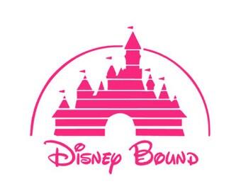 DISNEY BOUND; Quality Vinyl Decal, Disney Decal, Disney Yeti Decal, Disney Car Decal, Gifts for Disney addicts, Fast Processing!!
