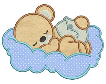 Baby bear3 Applique Design 8 sizes included.Machine embroidery design. Bear Embroidery design PES,Kid Embroidery, embroidery design,Applique