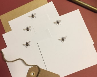 Little Bees Notecards (8 per pack)