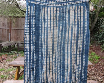 African Mud Cloth- Hand Dyed Indigo