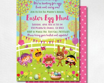easter party invitations egg hunt easter invites easter egg, party invitations