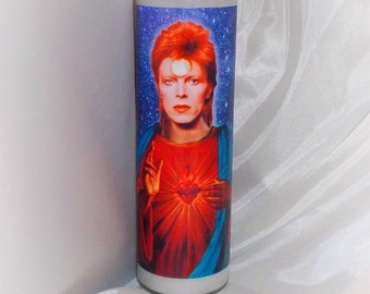 Saint Ziggy Stardust prayer candle David Bowie