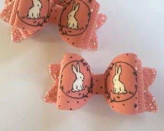 SALE!!! Pink Bunny hair bow