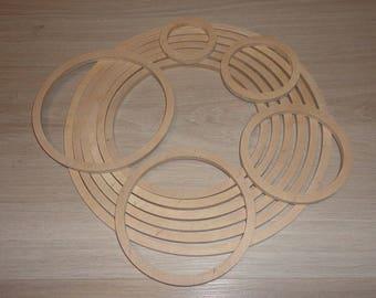 Wooden ring for Baby Mobile Hanger Mobile Frame Baby Nursery Mobile Kit Crib Mobile Arm DIY Ring Mobile Macrame Kit Macrame crib Wooden Hoop