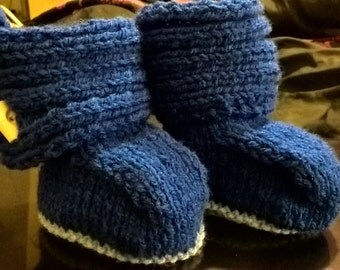 Ugg style baby booties - boy 3-6 months