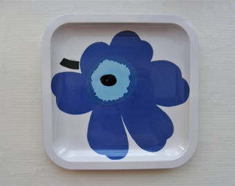 Marimekko UNIKKO Decorated Plastic Plate Or Little Tray