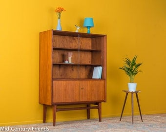 TEAK display cabinet, 50s, 60s, vintage (611036)