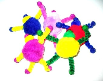 Robot toy, pom poms and pipe cleaners, cat toys, toy light kitten, pack of 2