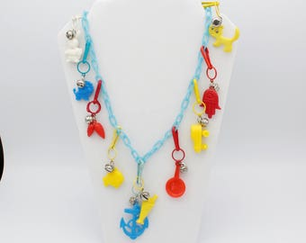 1980's Bell Charm Necklace