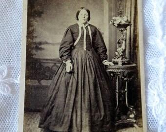 Antique Carte de Visite, CDV, antique photo, visiting card, sepia photo