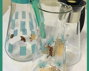 Groovy, Retro, Juice Carafes: Set of 3. Retro Vase. Utensil Holder, Decor