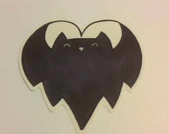 I heart bats sticker