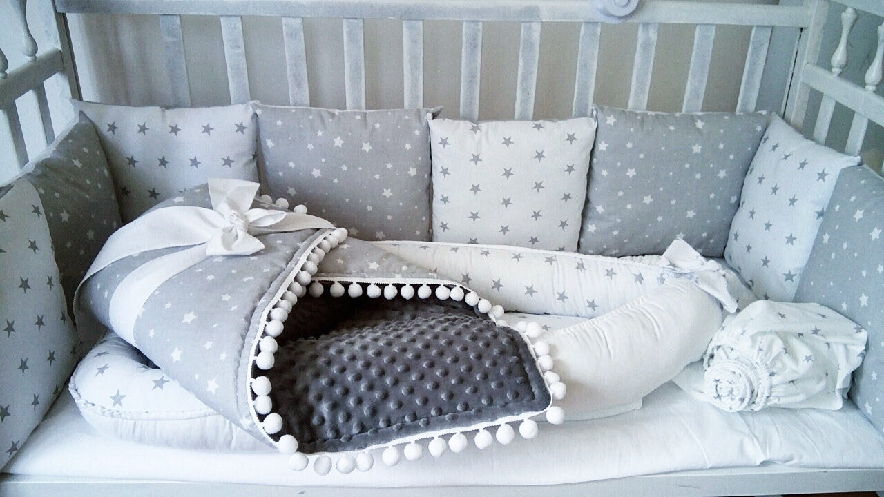 Baby bed and pillow - Baby Bed Bumper Baby Nest Bed Baby Cocoon Baby Blankets Baby Cover Baby Minky Baby Bumper Baby Plaid Blanket Bed Pillows Bedding Set Gift