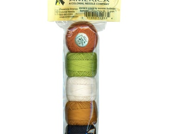 Presencia - Here a Chick, There a Chick Sampler Thread Pack - Size 8 Perle Cotton