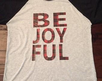 Women's Christmas Be Joyful Raglan Shirt