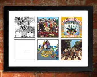 THE BEATLES Vinyl Albums Limited Edition Unframed Art Print
