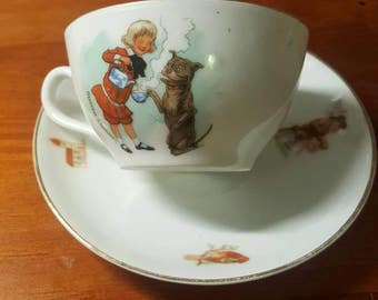 Vintage Buster Brown cup and saucer set