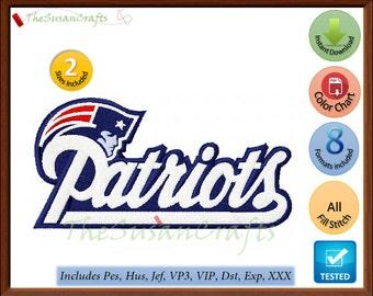 New England PATRIOTS 1st EMBROIDERY DESIGNS Pes, Hus, Jef, Dst, Exp, Vp3, Xxx, Vip