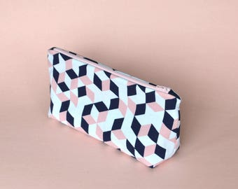 SALE - Geo Cube Zippered Pouch