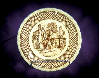 Original Myott Bread and Butter Plate - Shakespeare Land Blacksmith's Forge