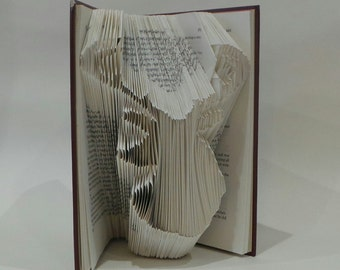 Stag - Deer - Folded Book Art - Home Decor - Book Lover - Gift - Handmade - Woodland - Animal - Hunting