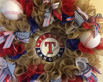 Texas Rangers Wreath