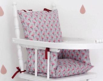 Flamingo high chair cushion