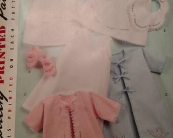 Baby Layette Bonnet Pattern.  Simplicity