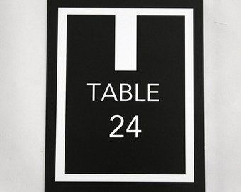 Wedding Table number / Minimal Table number / Black & White Table number