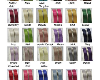 Satin ribbon excellent quality  double sided woven edge 5 Metres,  4 widths 32 colours, craft ribbon, wedding, cards, crafts, giftwrap