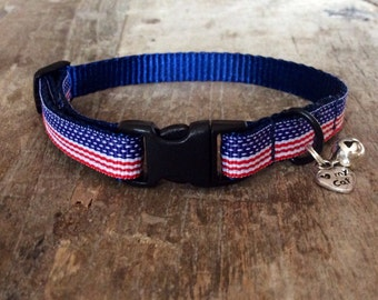 American flag cat collar - 4th of July