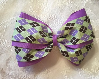 Double layered hair bow