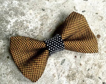 YUMI bow tie-Brown | Black | White