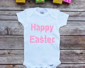 Baby girl my first easter onesie personalized easter bodysuit happy easter onesie easter baby onesie 1st easter baby girl bunny onesie negle Images