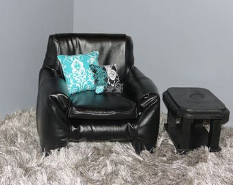 American Girl Faux Leather Chair Set