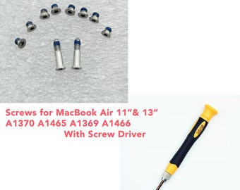 "Apple Macbook Air 13"" 11"" Bottom Cover Screws & Screw Driver Set  for A1465 A1466 A1369"