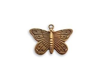 Vintaj Brass Butterfly Charm